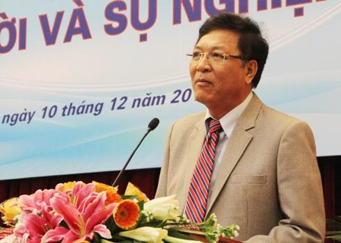 Bộ trưởng Phạm Vũ Luận khẳng định các trường Sư phạm phải đi đầu trong việc đổi mới toàn diện giáo dục (Ảnh: Phạm Thịnh)