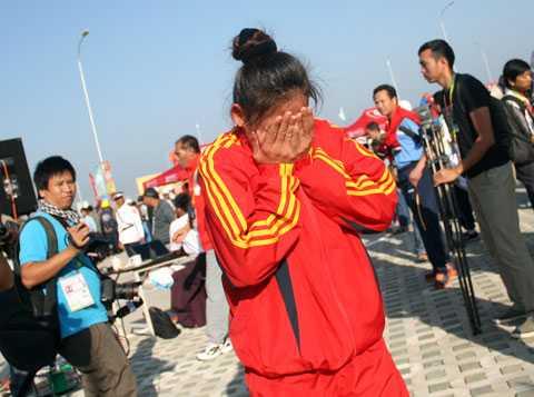 Hình ảnh ấm ức quen thuộc của các VĐV dự SEA Games