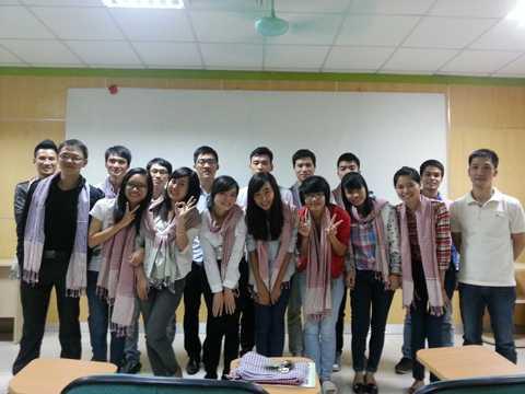 Các học viên của một lớp e-marketing