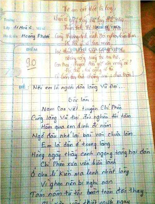 Bài thơ về làng Vũ Đại gây xôn xao dân mạng