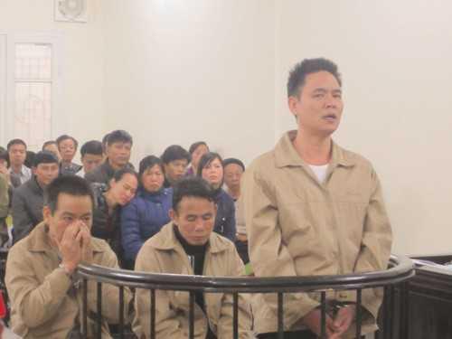 3 bị cáo tại phiên tòa.