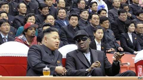 Rodman và nhà lãnh đạo Kim Jong-un từng cùng nhau xem bóng rổ