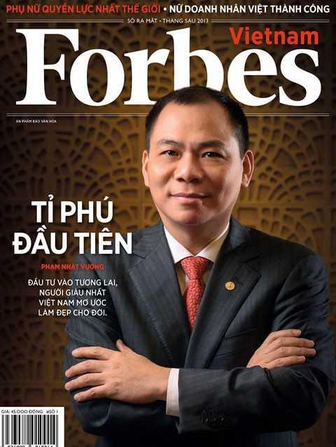 Chủ tịch Vingroup là người Việt Nam đầu tiên có tên trong danh sách tỷ phú của Forbes.
