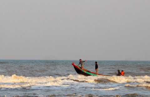 Khu vực ven biển nơi anh Thời cứu được các ngư dân, còn mình thì bị đuối sức và tử nạn
