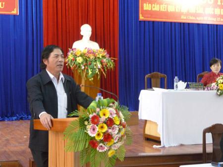 Ông Nguyễn Bá Thanh tiếp xúc cử tri Đà Nẵng
