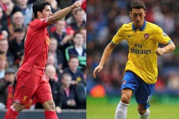 Oezil và Suarez, hai biểu tượng mới của Arsenal và Liverpool.