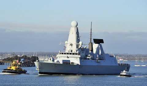 Khu trục HMS Daring cùng 229 sỹ quan, thủy thủ thuộc lực lượng Hải quân Hoàng gia Anh sẽ đến Đà Nẵng vào ngày 18/12 tới