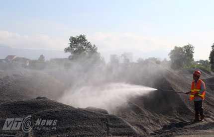Theo các bên liên quan, tiến độ thực hiện việc tẩy rửa dioxin tại sân bay Đà Nẵng đang thực hiện đúng tiến độ đề ra