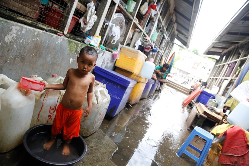 Cảnh yên bình ở khu chợ Nay Pyi Taw