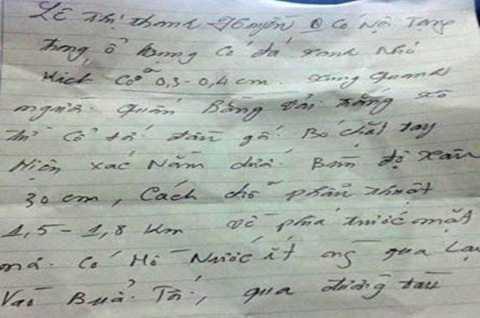 Bức thư được lan truyền trên mạng
