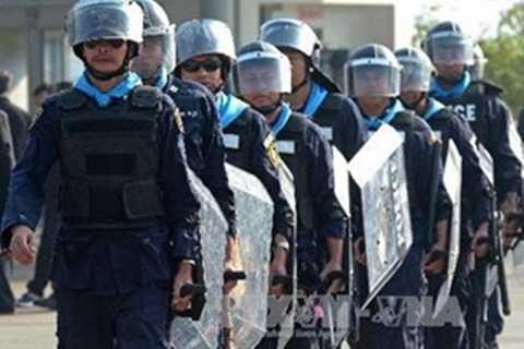 Cảnh sát Thái Lan tụ tập phản đối