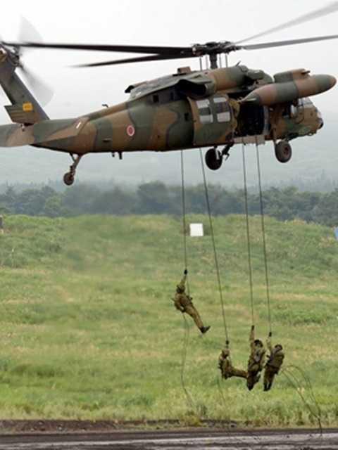 Lực lượng Phòng vệ Nhật Bản diễn tập đổ bộ đường không