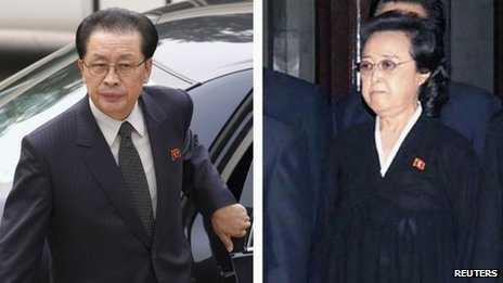 Ông Chang Song-thaek và vợ mình là bà Kim Kyong-hee
