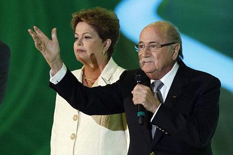 Chủ tịch FIFA, Joseph Blatter Tổng thống Brazil, Dilma Rousseff