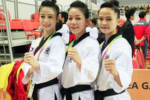 3 cô gái vàng của taekwondo Việt Nam