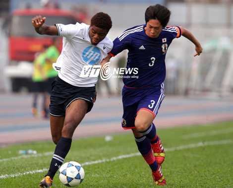 U19 Nhật Bản có trận đấu hay nhưng vẫn chịu thất bại (Ảnh: Quang Minh)