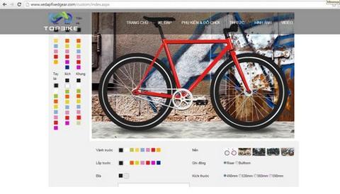 www.xedapfixedgear.com là trang web đầu tiên dành cho fixed gear với tính năng phối màu độc đáo