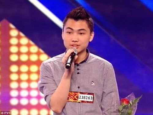 Hình ảnh Nguyễn Tiến Việt tại The X-Factor Anh Quốc 2012
