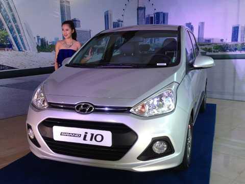 Hyundai Grand i10 vừa đổ bộ về thị trường Việt Nam. Ảnh Bobi