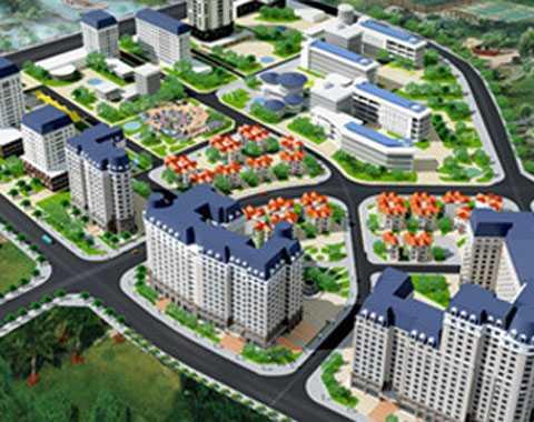 Phối cảnh khu đô thị Bắc Cổ Nhuế - Chèm