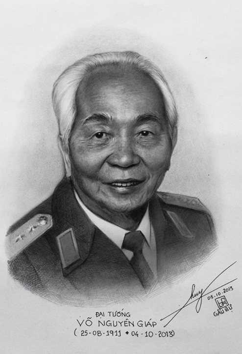 Bức phác họa chân dung Đại tướng