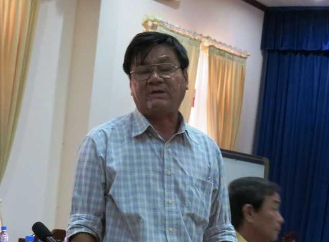 Ông Lê Phú Cường, Phó giám đốc Sở Xây dựng Bình Dương tại cuộc họp 'bất thường' ngày 24/10
