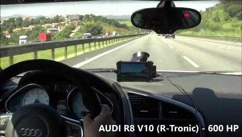 Cuộc đua trên xa lộ giữa mô tô 1000 phân khối và Audi R8. Xem Clip
