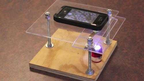 Dễ dàng biến iphone thành chiếc kính hiển vi điện tử. Xem Clip