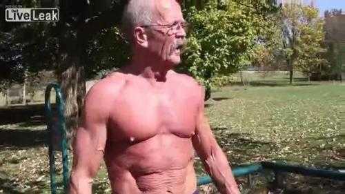 Cụ ông 65 tuổi nhưng cơ thể cường tráng hiếm thấy. Xem Clip