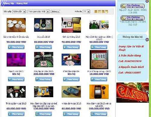 Không khó khăn để mua một thiết bị cờ bạc bịp trên mạng