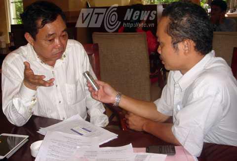 Ông Huỳnh Uy Dũng trả lời phỏng vấn VTC News. Ảnh: Minh Long