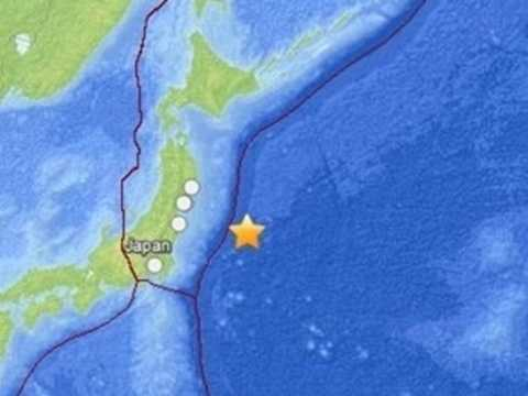 Hình ảnh vị trí xảy ra động đất do USGS cung cấp
