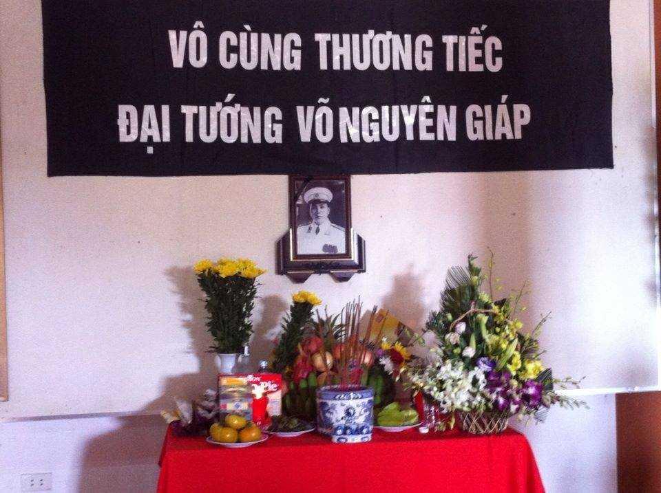 Bàn thờ Đại tướng Võ Nguyên Giáp tại tỉnh Điện Biên
