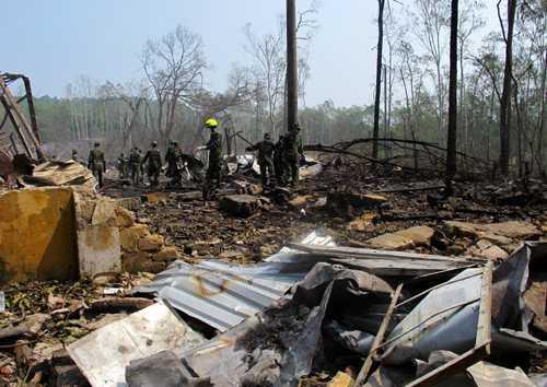 Vụ nổ lớn ở Phú Thọ mạnh tới mức khiến cả khu vực rộng hàng nghìn mét tan hoàn
