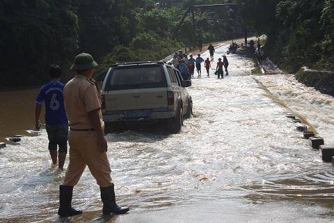 Đập Khe Ang nơi xảy ra vụ xe bị lũ cuốn làm 5 người chết