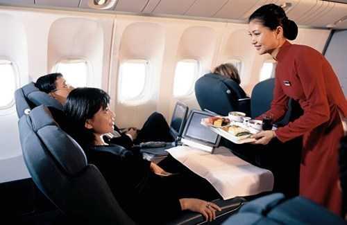Chỗ ngồi hạng thương gia của Vietnam Airlines.