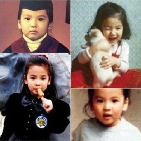 Song Hye Kyo sở hữu gương mặt xinh xắn, đáng yêu từ bé.