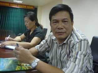 Ông Nguyễn Hoàng Phương, Phó chủ tịch Công đoàn Ngân hàng Chính sách xã hội (Ảnh: Minh Quân)