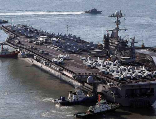 Mỹ - Nhật - Hàn tập trận trên vùng biển phía Nam bán đảo Triều Tiên