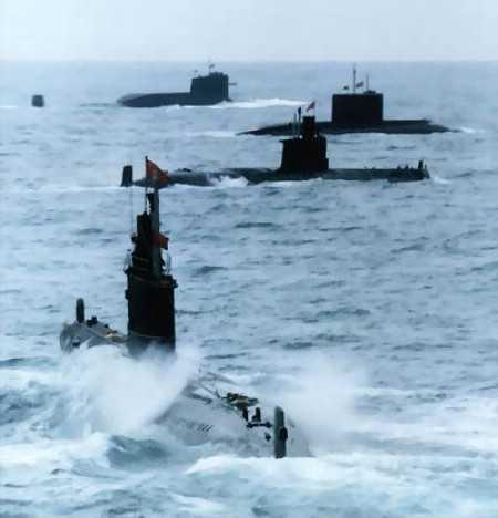Hạm đội tàu ngầm hạt nhân Trung Quốc hoạt động trên biển