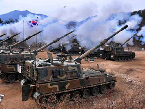 Một cuộc diễn tập của quân đội Hàn Quốc
