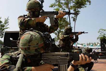 Lính Mỹ trong một cuộc tập trận chung Mỹ - Hàn