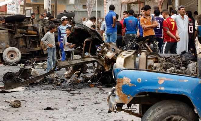 Hiện trường vụ đánh bom Iraq