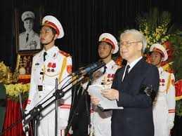 Tổng bí thư Nguyễn Phú Trọng đọc Điếu văn