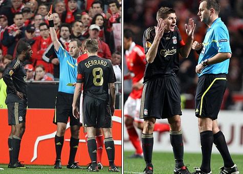 Liverpool cũng từng suýt ôm hận vì Eriksson trong trận tứ kết lượt về tại Europa League với Benfica vào năm 2010