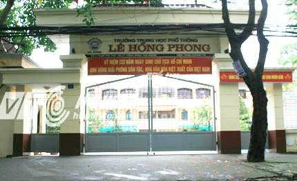 Trường THPT Lê Hồng Phong, nơi xảy ra nhiều sai phạm  (Ảnh: Minh Khang)
