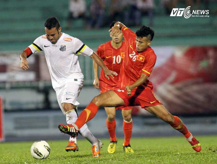 U23 Việt Nam đánh bại U23 Santos (Ảnh: VSI)