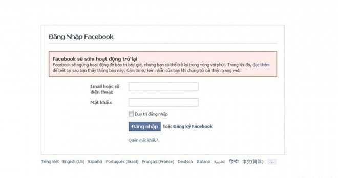 Sự cố Facbook gặp phải hôm 21/10 kéo dài tới 3 tiếng đồng hồ