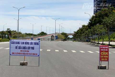 Từ 20/7-30/7, cầu Thuận Phước cấm phương tiện để sửa chữa
