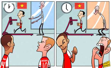 Sao Arsenal không so được sức bền với Running Man Vũ Xuân Tiến